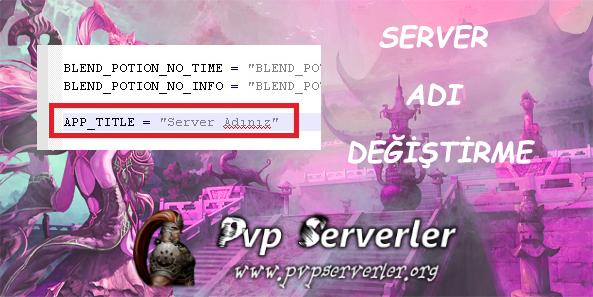 Metin2 Pvp Server Ad� De�i�tirme